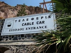 Cable Car Entrance Sign
